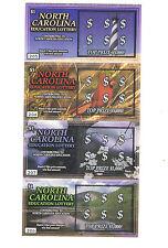 2006 NORTH CAROLINA LOTTERY SCRATCH-OFF GAME #1 !! 4 Mint Tickets MT Lot RARE!