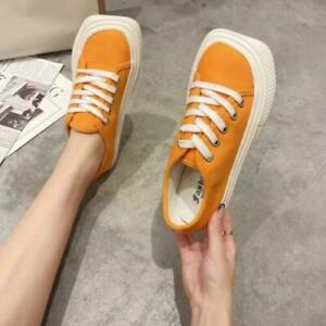 Women's Vulcanize Sneakers Lace-up Breathable Walking Canvas Shoes Causal Shoes