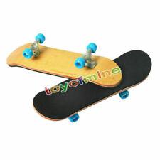 2x Bearing Wheels & Wooden Canadian Maple Deck Fingerboard Skateboards Gift 96mm