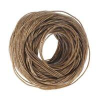 Hemp fiber beeswax candle core natural environmental hemp rope 200 feet