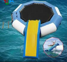 Inflatable water jump trampoline bounce swim platform for sports