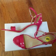 Michael Kors Ultra Pink Ankle Strap Heels Open Toe Sandals Size 9 New