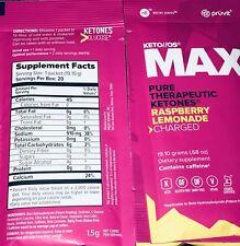 Pruvit Keto OS bio MAX Rasp Lemonade Charged Ketones 20 Servings Low Carb Drink
