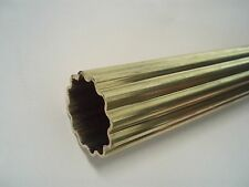 """20mm 3/4"""" Reeded Corrugated Brass Tube Off Cut for Engineers & Model Makers 90cm"""
