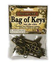 Steampunk Bag of Multi Keys Victorian Industrial Jewelry Costume Accessory Prop