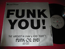 "MEGA RARE 12"" FUNK YOU - FUNK OR DIE - METROVYNIL - PROGRAMME 2 BILLY JEAN REMIX"
