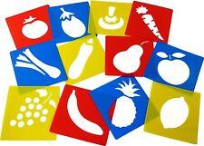 Stampo Frutta E Verdura Lavabile Stampino Di Plastica Set di 12
