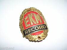 Fahrrademblem Oldtimer Fahrrad Steuerkopfschild EKM Record