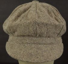 Gray cabby paper boy news boy hat cap fitted
