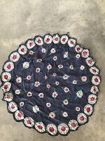 Vintage Circular Floral Silk Scarf