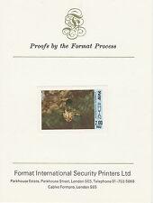 Bután 2608 - 1985 2nu en el formato sin publicar Orquídea tarjeta de prueba internacional
