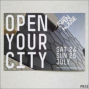 Melbourne Open House Advert Postcard (P512)