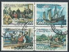 1992 ITALIA USATO BLOCCO COLOMBO - PK-7