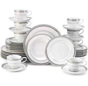 MIKASA  Platinum Crown 40 piece Dinnerware Set Service for 8 Fine China