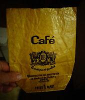 Ancien Sac Sachet Poche Papier du Café BB Torrefaction des  Brotteaux Lyon