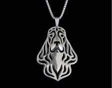 English Cocker Spaniel necklace sterling silver pendant dog necklace