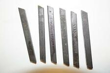 "6 NOS Simonds Molva HSS Tool bits 1/4"" square for Atlas South Bend Lathe Shaper"