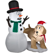 Outdoor Inflatable Christmas Decorations 4Ft Snowman Dog Funny LED Lights NEW