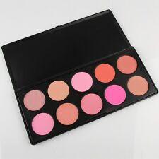 Pro 10 Colors Blush Blusher Powder Makeup Palette New Pink Rose