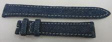 New Chopard 14mm x 12mm Blue Denim Fabric Watch Strap Band Set