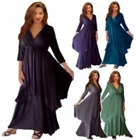 R701 MAXI DRESS LAYERED CROSS OVER LAGENLOOK MADE TO ORDER LotusTraders DESIGN