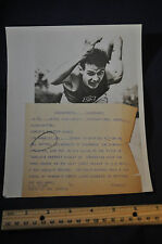 1948 World's Fastest Human Mel Patton USC Sprinter Press Photo