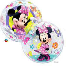 "1 X Disney Minnie Mouse Bow-tique Qualatex Bubble Helium Balloon 22"" 41065"