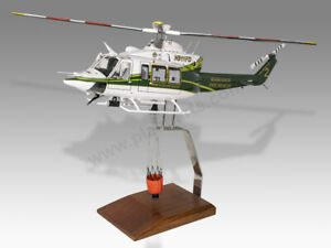 Bell 412 Miami Dade Fire Rescue Transparent Handcrafted Solid Wood Display Model