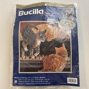 Kittens on the Keys Bucilla Needlepoint Kit  4805