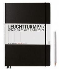 Leuchtturm 1917 A4+ Notebook Master Classic Tapa dura negro punteado 327366
