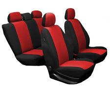 Autositzbezüge,Sitzbezüge, Komplettset PKW, Universal Opel SCHWARZ ROT