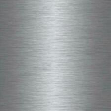 2mX67.5cm  BRUSHED STEEL METALLIC SILVER STICKY BACK PLASTIC SELF ADHESIVE VINYL