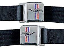 Mustang Tri BAR Cinture Sedile, Pony Cinture Sedile - Pergamena/Marroncino