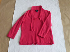 Women's Jones Swear 98% Cashmere 2% Wool 3/4 Sleeve Knitted Sweater