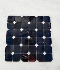 Nero Marquine Octagon Marble  Mosaic Tile Wall Floor Kitchen Bathroom Splashback