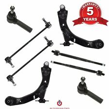 Lower Control Arms Tie Rods Links 8Pc Kit Chevrolet Cobalt Pontiac G5 Saturn Ion