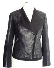 Gerry Weber Damen Jacke Gr. 44 Patch Leder Blazer Cardigan Pullover Lederjacke
