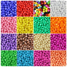 BeadTin Opaque 8mm Faceted Round Craft Beads (450pcs) - Color choice