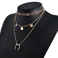 Fashion Charm Jewelry Women Choker Chunky Statement Bib Pendant Necklace Chain