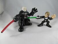 Star Wars Galactic Heroes Luke Skywalker vs Darth Vader Unmasked lot lightsabers