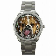 English Bulldog Funny Puppy Dog Accessory Stainless Steel Watch