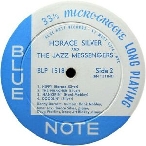 "BLP 1518 HORACE SILVER & THE JAZZ MESSENGERS  BLUE NOTE REPRO  VINYL STICKER 4"""