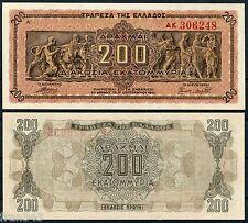 GRECIA GREECE 200 Million Drachmai 200000000 dracmas 1944 Pick 131  SC /  UNC
