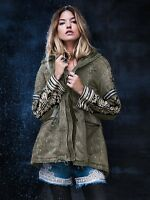 NEW Free Embroidered Rivet Design Coat Color Option's Blue or Army Green Jacket