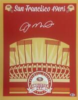 JOE MONTANA Auto San Francisco 49ers Signed 16x20 Photo ~Beckett Witness BAS COA