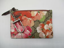 GUCCI GG blooms floral keyring card holder coin case