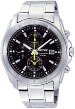 SEIKO SNDB69 SNDB69P1 Men Chronograph Black Dial Steel 100m Quartz Watch