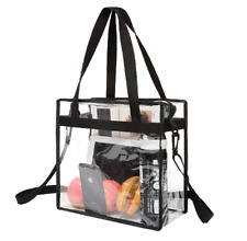 Clear Tote Bag Transparent Zipper Purse Backpack Shoulder Handbag NFL Stadium
