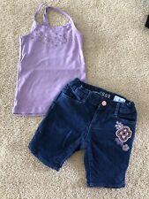 Gap Kids Little Girl 2 Piece Outfit Demin Purple Sparkles Size 5