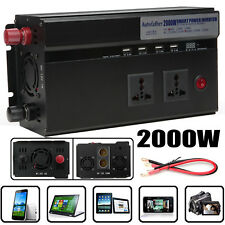2000W/4000W(Peak) Power Modified Sine Wave Inverter DC12V TO AC 220V Car Caravan